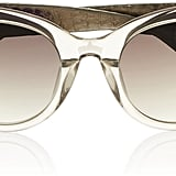 Linda Farrow Cat-Eye Acetate and Watersnake Sunglasses ($645)