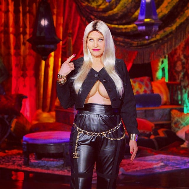 ellen degeneres kept her amazing history of halloween costumes going when she dressed up as nicki