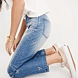 Madewell's Perfect Summer Jean  ($90) features delicate flowers down a tapered leg.