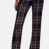 Prabal Gurung Plaid Twill Flared Trousers