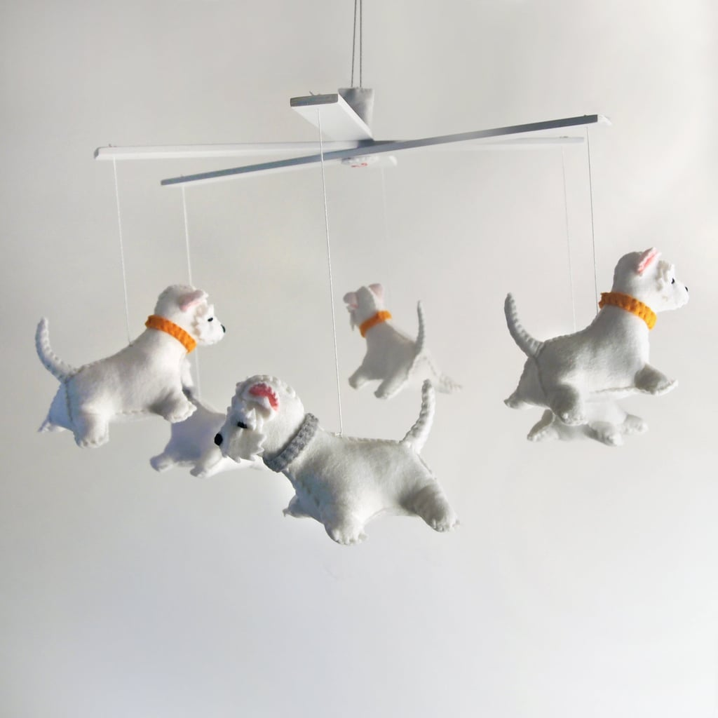 cool mobiles from etsy  popsugar moms - sweet dog mobile