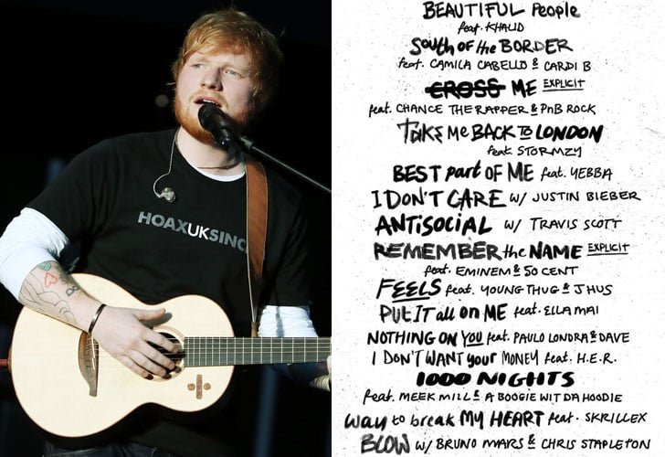 Celebrities on Ed Sheeran No. 6 Collaboration Project Album