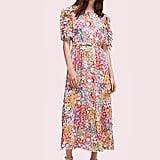 Kate Spade New York Foral Dots Ruffle Midi Dress