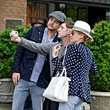 Joshua Jackson and Diane Kruger were game for a fan selfie, and we were happy to see the other side of the snap.
