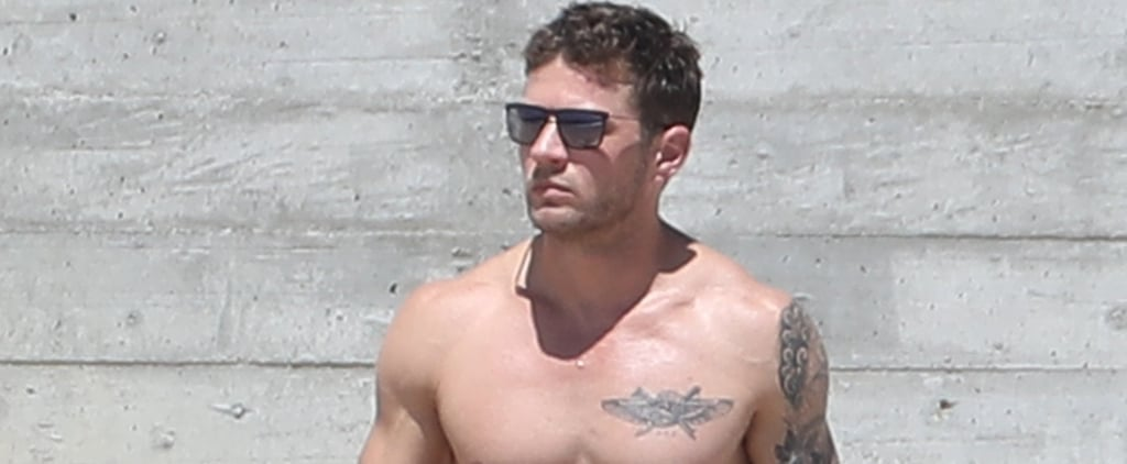 Ryan Phillippe Is Too Sexy For His Shirt on the Beach, and Suddenly We Need 50 Cups of Water