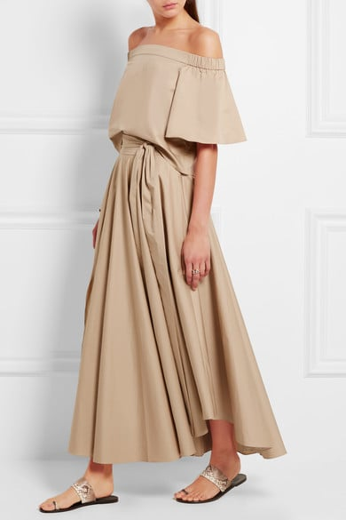 TIBI Obi cotton-crepe maxi skirt ($425)