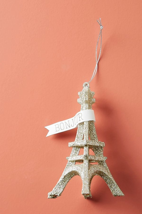 Glittering Eiffel Tower Ornament
