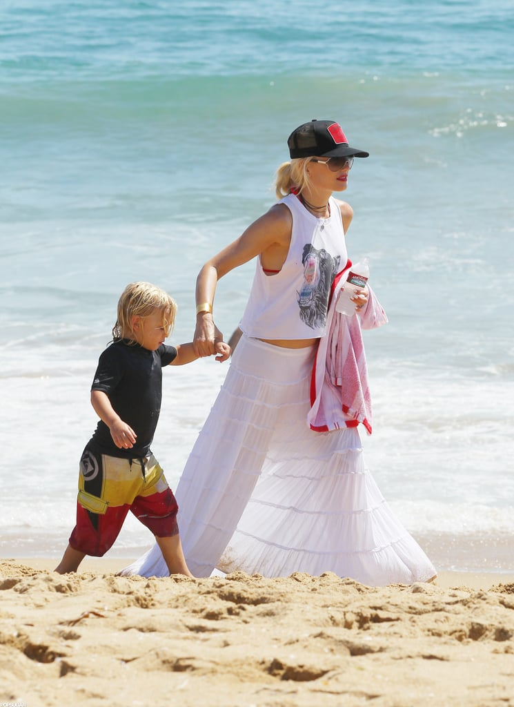 Gwen Stefani Covers Up Red Bikini | Pictures