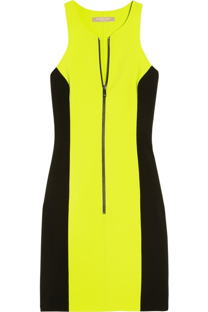 The sexiest sporty little dress to pair with sleek black heels.  Michael Kors Stretch Wool-Crepe Racerback Dress ($1,795)
