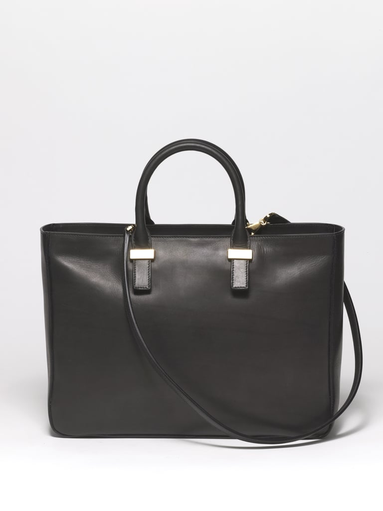 Day Luxe Calfskin Tote in Black