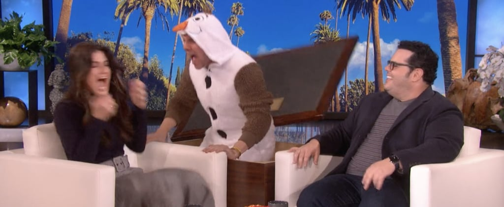 Idina Menzel Is Scared by Olaf on Ellen DeGeneres Show Video