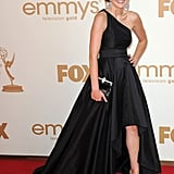 Aimee Teegarden in black at the Emmys.