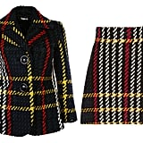 Miu Miu Tartan Bouclè Jacket ($1,476) and Plaid Wool Mini Skirt ($960)