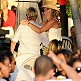 Portia showed Ellen love in St. Barts in December 2010.