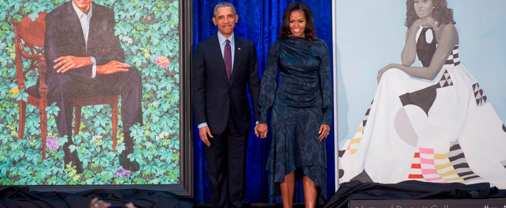 Every Emotional Photo You Need to See From Barack and Michelle Obama's Portrait Unveiling