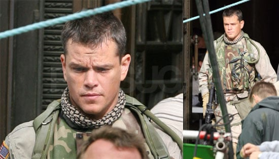 Matt Damon on the Set of Green Zone in London