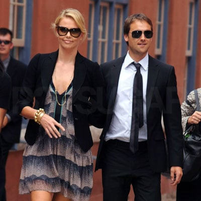 Charlize Theron and Stuart Townsend in Denver