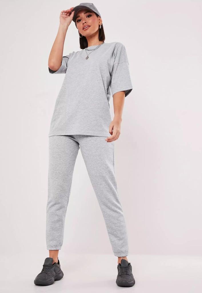 Gray T-Shirt and Jogger Set