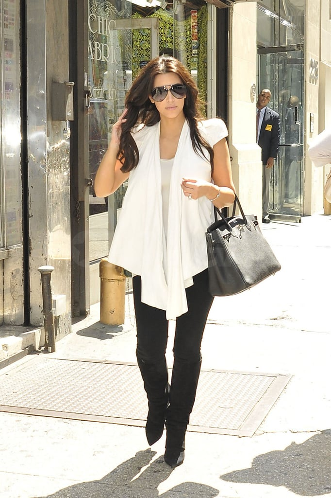Kim Kardashian carried her Birkin bag for her appointment at Vera Wang.