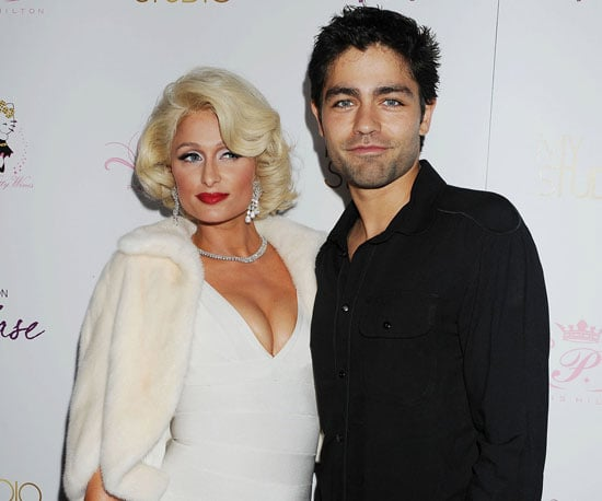 Slide Picture of Paris Hilton and Adrian Grenier at Fragrance Launch in LA