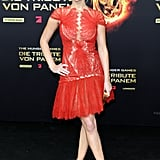 Jennifer Lawrence chose a bright Marchesa dress for the Berlin premiere of The Hunger Games in March.