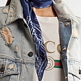 The Rockins — Guns 'n' Rockins Printed Silk Crepe De Chine Scarf ($145) that all the supermodels have.