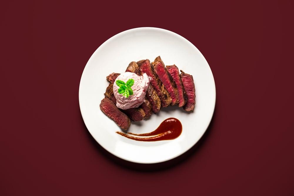 Steak With Ice Cream