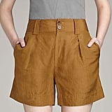 "Marc by Marc Jacobs Cari Silk LInen Shorts, $198   Pair with:   <iframe src=""http://widget.shopstyle.com/widget?pid=uid5121-1693761-41&look=3445730&width=3&height=3&layouttype=0&border=0&footer=0"" frameborder=""0"" height=""244"" scrolling=""no"" width=""286""></iframe>"