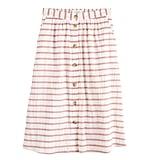 POPSUGAR Textured Button-Front Skirt
