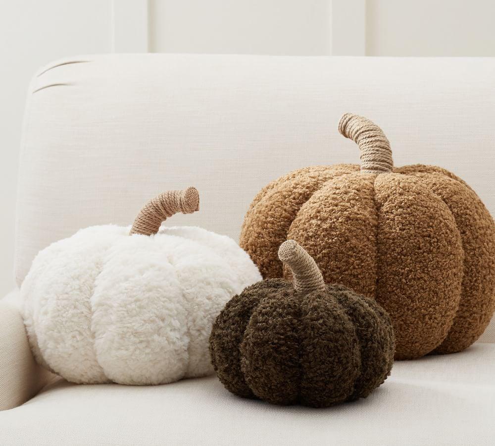 Pottery Barn Cozy Pumpkin Pillow