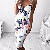 Sunward Floral Bodycon Dress