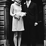 Audrey Hepburn Wore a Funnel-Neck Givenchy Dress For Her Wedding