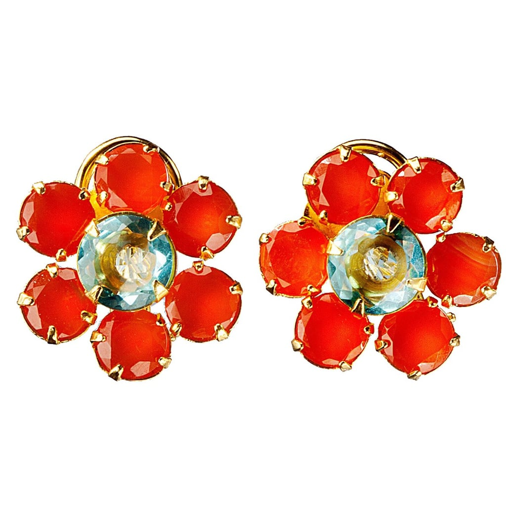 Pearl studs might be the epitome of preppy American jewelry, but we're all for mixing things up. Finish off your Fourth of July ensemble with Bounkit's floral sparklers ($185).
