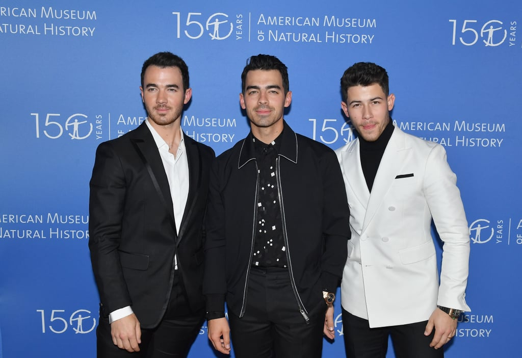 "The Jonas Brothers have been everywhere ever since they got back together earlier this year, and they're showing no signs of slowing down. On Thursday night, Nick, Joe, and Kevin took a break from their Happiness Begins tour and popped up at the annual American Museum of Natural History Gala in NYC. The trio dressed to impress in color-coordinated black-and-white ensembles, and man, did they look good.  The Jonas Brothers' latest appearance comes just a day after they received their first Grammy nomination since 2009. The band is nominated for best pop duo/group performance for ""Sucker,"" and naturally, they lost their cool over the special honor. ""There were some really tough moments that had to happen for us to get to this place but it's right where we are supposed to be. This has truly been our greatest year yet,"" the brothers wrote on their Instagram. ""We truly couldn't be happier . . . as artists, as friends, and as brothers. To think a year ago we hadn't even released music . . . This nomination means the world."" Find out if they win when the Grammys go down on Jan. 26.      Related:                                                                                                           The Holidays Just Got Even Cooler Because the Jonas Brothers Released a Christmas Song"
