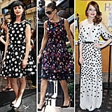 Polka dots have been a classic for ages, but we adore how Hollywood's hottest ladies have taken the trend to totally playful heights. Whether you prefer a flare, fitted, or maxi dress, shop CelebStyle's favorite picks to get the celebrity-approved look for when you're feeling sassy.