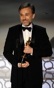 Best Supporting Actor Christoph Waltz Press Room Quotes and Photos