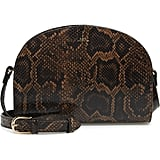 A.P.C. Demi Lune Python Embossed Leather Crossbody Bag