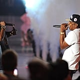 Jay Z and Kanye West performed together at the show in 2011.