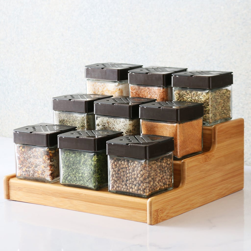 Gearld Bamboo Expandable Three Tier 9 Jar Spice Rack