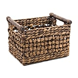 Natural Pole Handle Storage Basket