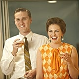 Aaron Staton as Ken Cosgrove and Larisa Oleynik as Cynthia Cosgrove on Mad Men.  Photo courtesy of AMC