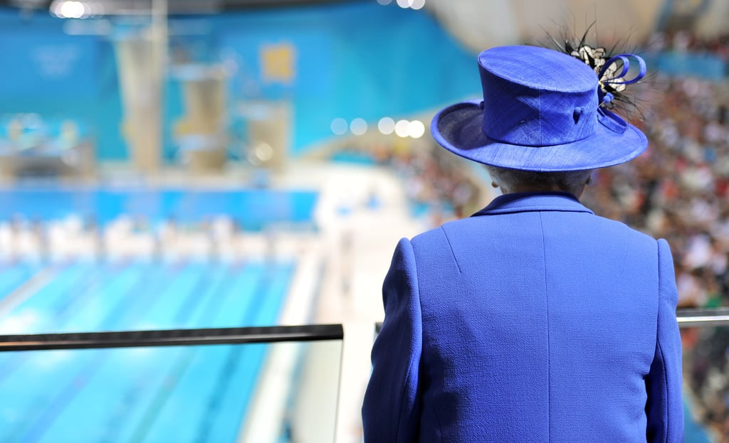The queen checked out the pool.