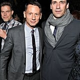 Jim Nelson and Jon Hamm partied at the Chateau Marmont.