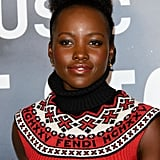 Lupita Nyong'o's Effortless Topknot in 2017