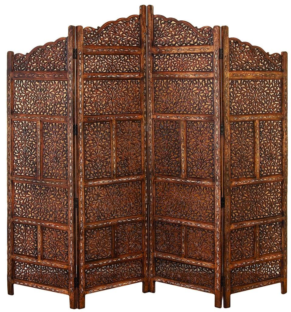 villa este wood room divider 4 panel carved screen best boho home