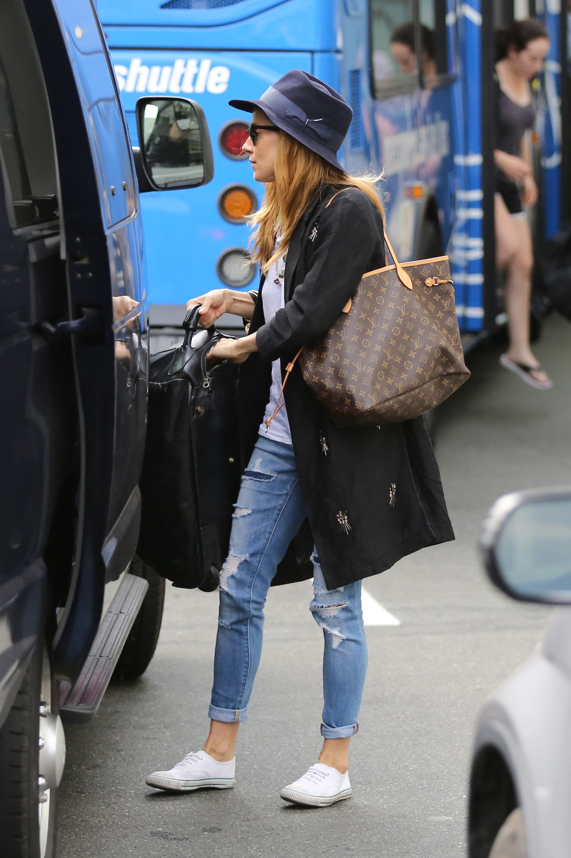 Sienna Miller Carrying Louis Vuitton