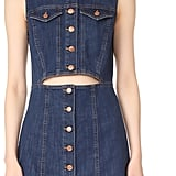 Madewell Denim Button-Front Cutout Dress