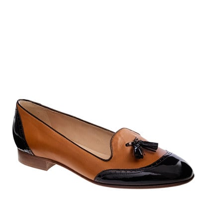"Tassel flats instantly read ""smart and chic"", and this two-tone pair is perfect for wearing with dresses and pants alike. J.Crew Toni Tassel Loafers ($238)"