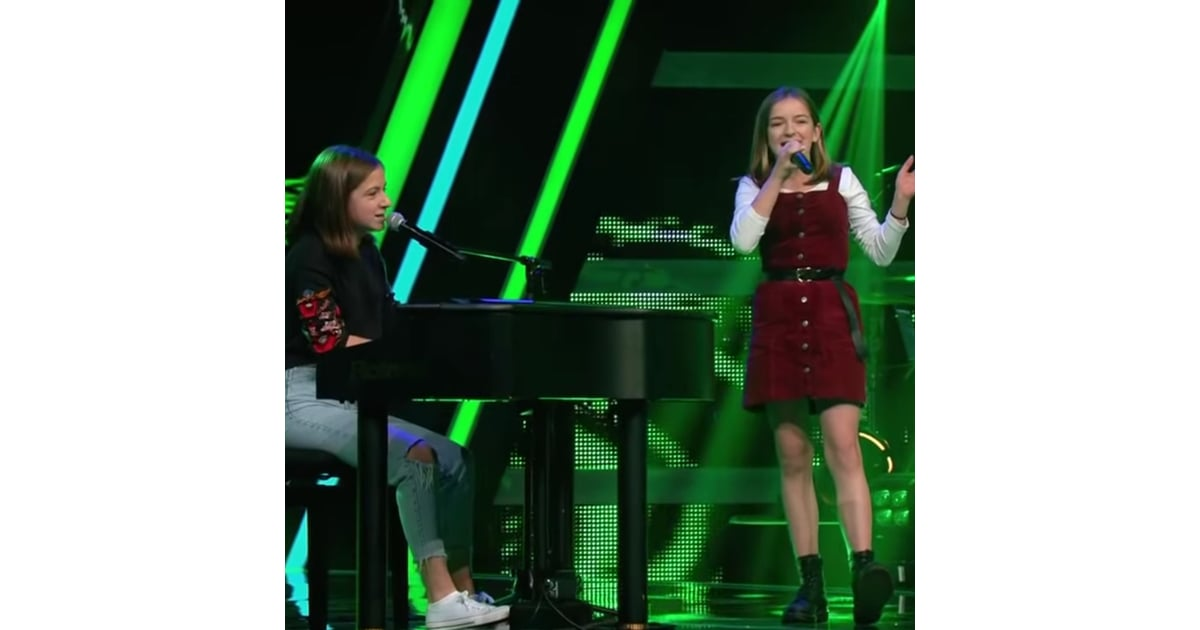 Mimi And Josefin Creep The Voice Kids Audition Video 2019 Popsugar Entertainment