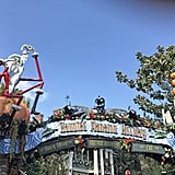 The Haunted Mansion transforms into Nightmare Before Christmas.
